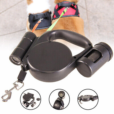 AU29.45 • Buy Automatic Telescopic Tractor Rope Retractable Dog Leash With Flashlight&Poop Bag