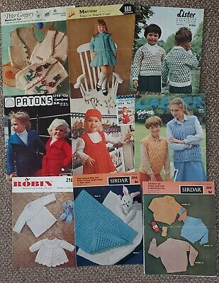 £2.99 • Buy Lot Vintage Children's And Baby Knitting Patterns