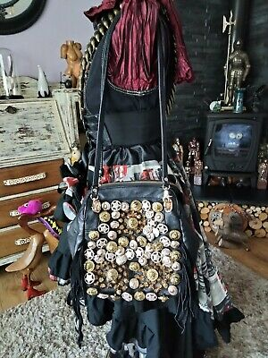 £6 • Buy Quirky Stud/ Button Detail Black Bag/ Back Pack