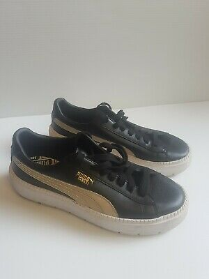 AU45 • Buy PUMA Women's Platform Trace L Shoes In Black And Gold Size 10 Us 367728 01