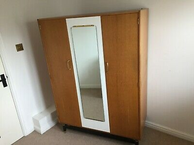 £60 • Buy G Plan Triple Vintage Wardrobe With Central Mirror And Light Fixture Inside
