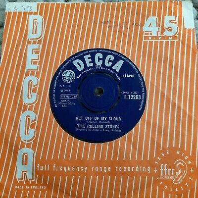 £2.70 • Buy The Rolling Stones – Get Off Of My Cloud UK 7  Decca 1965 1st Pressing