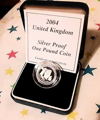 £2.20 • Buy   Mint/boxed  Silver Proof £1 One Pound Coin..with  Certificate Of Authenticity