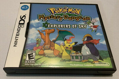 $140 • Buy Pokemon Mystery Dungeon: Explorers Of Sky (DS, 2009) - Complete CIB - Authentic