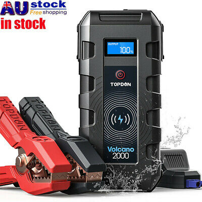 AU75.69 • Buy Topdon 20800mAh Car Jump Starter Pack Battery Booster Power Bank Charger 2000Amp