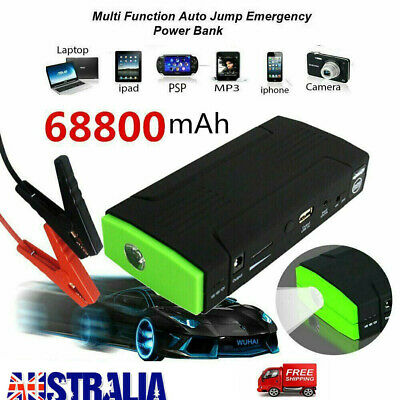 AU55.90 • Buy Car Jump Starter Battery Charger 68800mAh Pack Booster Power Bank Emergency Pack
