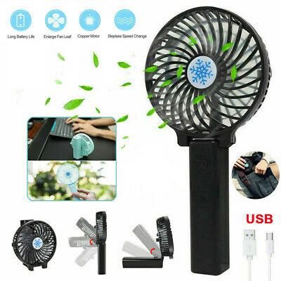 AU14.96 • Buy Portable Mini Hand-held Small Folding Desk Fan Cooler Cooling USB Rechargeable