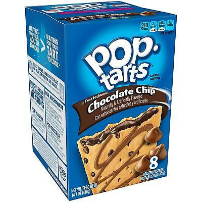 £7.99 • Buy Kellogs Frosted Chocolate Chip American Pop Tarts Toaster Pastries 8 Pack 384g