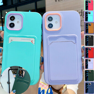 AU12.99 • Buy Case For IPhone 13 12 11 Pro X/XS Max XR 8 7 SE Plus Wallet Card Silicone Cover
