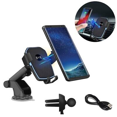 AU20.59 • Buy AU Qi Fast Wireless Car Charger Mount Phone Holder For IPhone 13 Pro Max 12 11 X