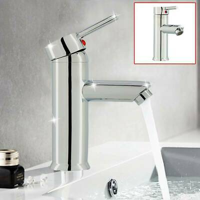 £12.99 • Buy Modern Bathroom Taps Basin Sink Mono Mixer Chrome Cloakroom Tap With 2 Hoses