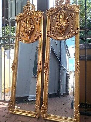 £480 • Buy Pair Of Gold French Regency Rocco Mirrors 6ft