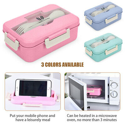 AU16.59 • Buy 3 Compartment Lunch Box Food Container Bento Storage Box For Kids Adults Picnic