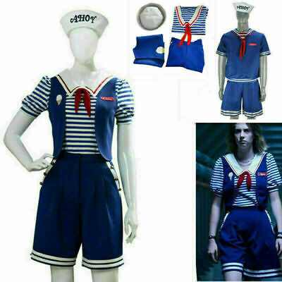 £15.88 • Buy Cosplay Stranger Things Robin Steve Scoops Ahoy Costume Dress Halloween Outfit