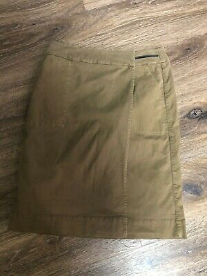 £19.50 • Buy JIGSAW Olive Wrapped Skirt Size 8