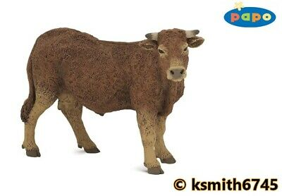 £7.55 • Buy Papo LIMOUSIN COW  Solid Plastic Toy Farm Pet Brown Animal NEW 💥