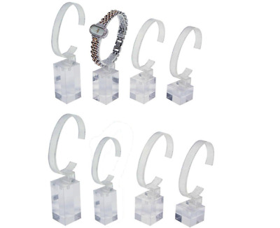 £30.44 • Buy 8pc Watch Display Holders Clear Acrylic Watch Stands Jewelry Bracelet Holders