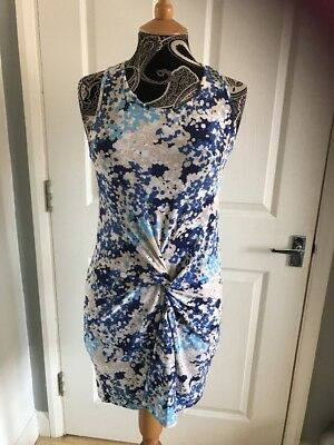 £10 • Buy House Of Fraser Wal G Blue Print Dress NWT , Size M,