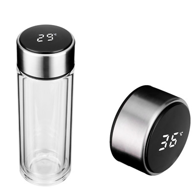 £7.99 • Buy Watld LC LED Smart 500ml Glass Water Bottle With Temperature Display