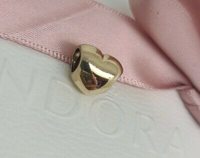 AU299 • Buy Authentic Pandora  Solid 14k Gold Smooth Heart Charm 750119 Retired