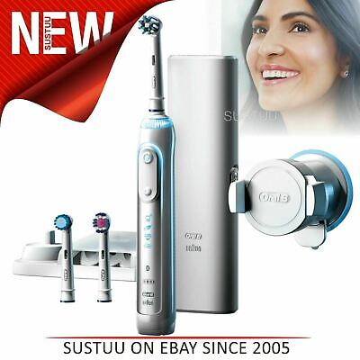 AU298.86 • Buy Oral-B Genius 8000 CrossAction Electric Rechargeable Toothbrush│Smart Bluetooth