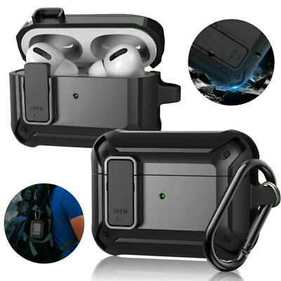AU11.99 • Buy Heavy Duty Armor Case For Apple AirPods 1/2 Pro Cover + Keychain Clip Shockproof
