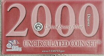 AU2.25 • Buy 2000 United States Mint Set--ten Uncirculated Coins--no Reserve