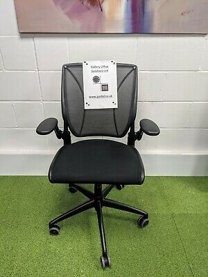 £220 • Buy Humanscale Diffrient World Task Chair With Mesh Back In Black