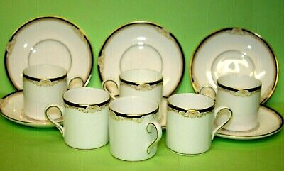 £28.99 • Buy Wedgwood Cavendish Small 6 X Coffee Cups & Saucers, Perfect 2.5  Tall R4680