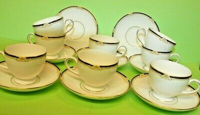 £39.99 • Buy Wedgwood Cavendish  8 X Tea Cups & Saucers, Perfect 2.5  Tall R4680
