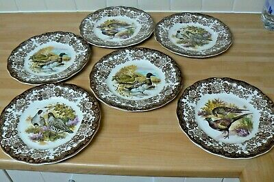 £17 • Buy 6 Royal Worcester/Palissy Small 'Game Series' Dinner Plates  3x2 Designs  22.5cm