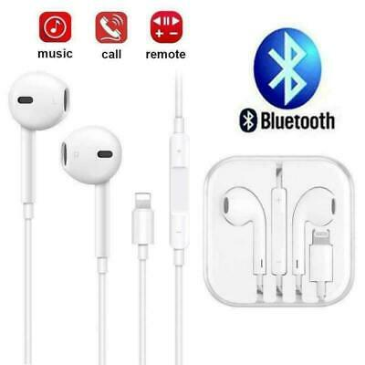AU10.99 • Buy Wired Bluetooth 8pin Earphones Headphones Mic For Apple IPhone11 8 7 X Xs XR 12
