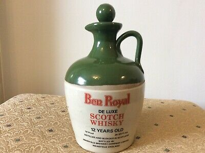 £9.50 • Buy Mansfield Brewery Ben Royal 12 Year Whisky Decanter - Silver Jubilee Edition