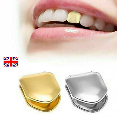 £4.69 • Buy Comfort Gold Silver Plated Small Single Tooth Cap Grillz Hip Hop Teeth Grill  UK
