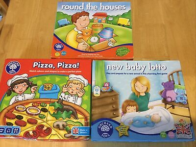 £0.99 • Buy ORCHARD TOYs GAMES BUNDLE ROUND THE HOUSE PIZZA PIZZA NEW BABY LOTTO