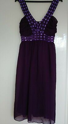 £3 • Buy Ladies Purple Evening Dress.Pussycat London Small. Size 10/12. Xmas Party Time.