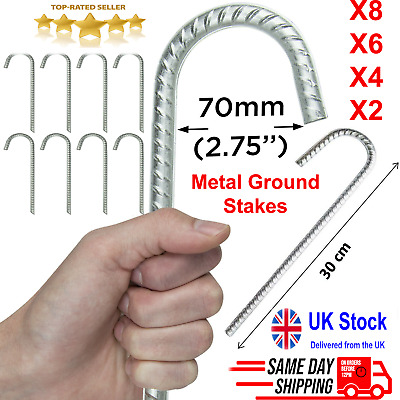£8.89 • Buy Galvanized Heavy Duty Steel Metal Ground Stakes Tent Camping Gazebo Marquee Pegs