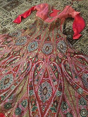 £80 • Buy Asian Indian Pakistani Bridal Lengha Wedding Dress Outfit Red Size 14 - 16 Used
