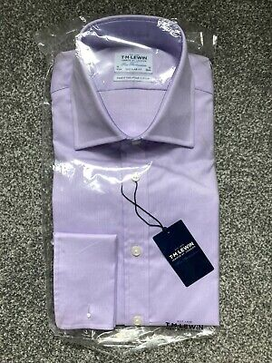 £30 • Buy  TM Lewin Oxford Double Cuff Shirt Regular Fit Lilac 16