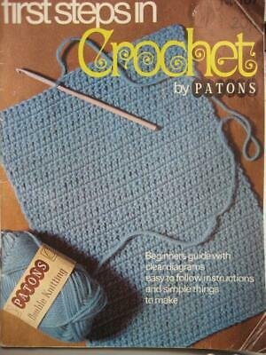 £1 • Buy Vintage 1st STEPS In CROCHET BOOKLET 60s/70s Patterns LEARN & HOW TO #167