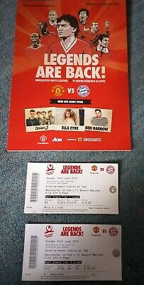 £1.99 • Buy Manchester United Legends Tour 2015 Programme And Tickets Vgc