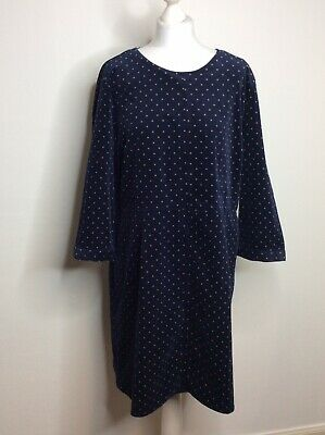 £29.99 • Buy Joules UK 18 Navy Spotted Needle Cord Tunic Dress With Pockets Smart Casual