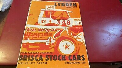 £1.99 • Buy Lydden---brisca---stock Car--programme--21st May 1972