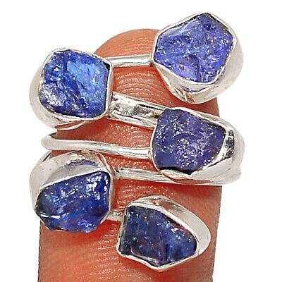 £1.64 • Buy Tanzanite Crystal, Tanzania 925 Sterling Silver Ring Jewelry S.6.5 BR86414