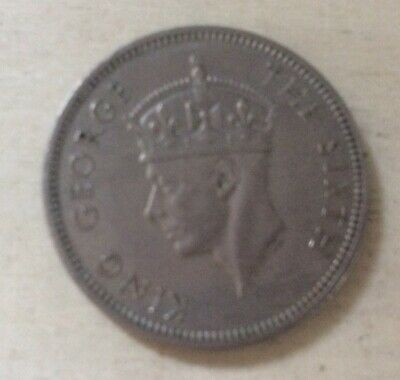 £0.99 • Buy Malaya George Vi 20 Cents Silver Coloured Coin Dated 1950