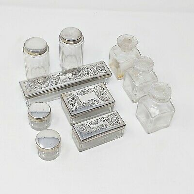 £0.99 • Buy Victorian Silver Plated Dressing Table Set