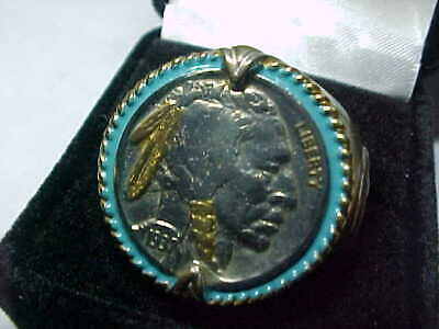 £14.49 • Buy 1937 Indian Head Buffalo Nickel Ring Honoring The American West Men's Size 14
