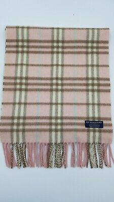 £14.50 • Buy BURBERRY Pink Checked Cashmere Scarf