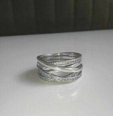 £0.99 • Buy Sterling Silver S925 Pandora Eternity Entwined Ring Size 60 - #109019CZ
