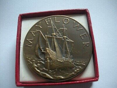 £2.99 • Buy Cased John Pinches Coin, Commemorating The Sailing Of The Mayflower 2 1957
